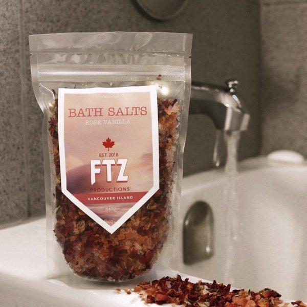 CBD Bath Salts Rose Vanilla